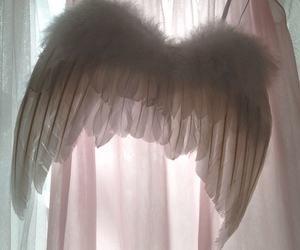 angel, wings, and pink image