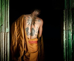 back, buddhism, and religious image