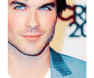 ian somerhalder, blue eyes, and damon image