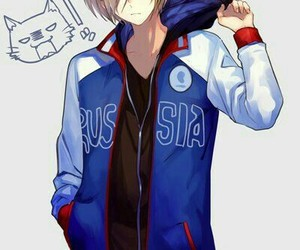 yuri on ice, anime, and anime boy image
