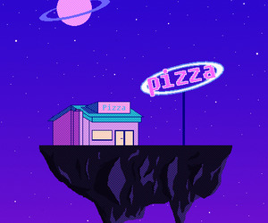 pizza, space, and gif image