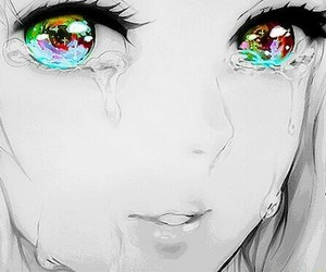anime, eyes, and cry image