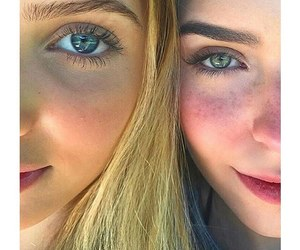 girl, eyes, and friends image