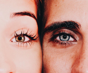 eyes, boy, and couple image