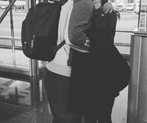 airport, couple, and everything image