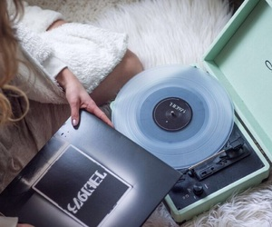 blogger, cozy, and record player image