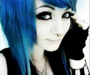 pelo azul, emo, and emo girl image