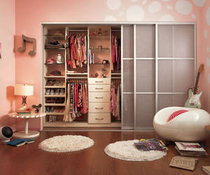 pink, closet, and room image