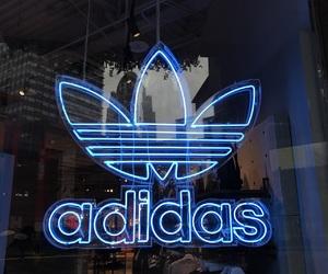 adidas, art, and blue image