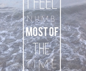 NUMB, sad, and quote image