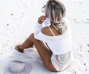 fashion, beach, and girl image