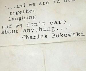charles bukowski, Paper, and happyness image