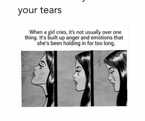 quote, cry, and girl image