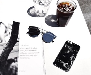 iphone, drink, and glasses image