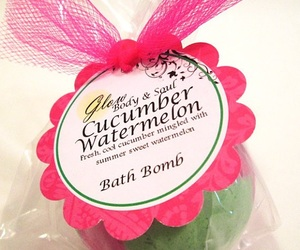 bath, cucumber, and bombs image