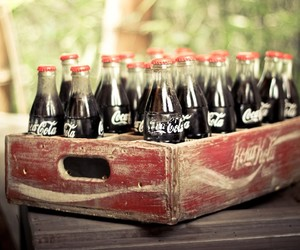 coca cola, vintage, and bevanda image