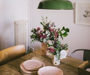 flowers, interior, and vintage image