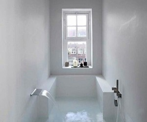 bath, bathroom, and white image