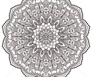 black and white, drawing, and mandalas image