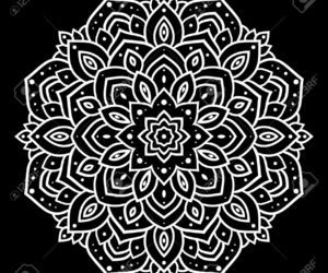 drawing, mandalas, and black and white image