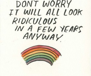 quotes, rainbow, and words image