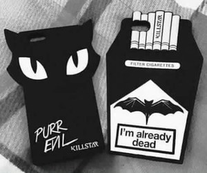 black, case, and cat image