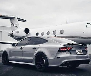 jet, audi, and car image
