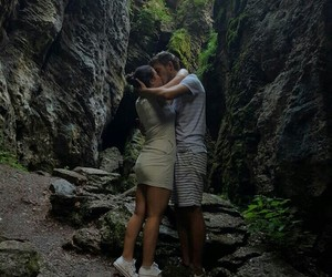 boyfriend, mountain, and special moment image