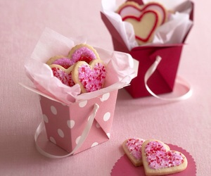 cake, heart, and Cookies image