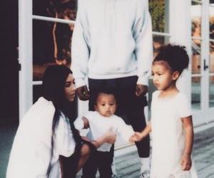 kim kardashian, family, and kanye west image