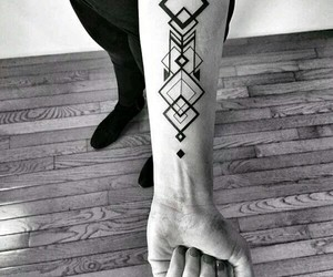 tattoo and geometric image