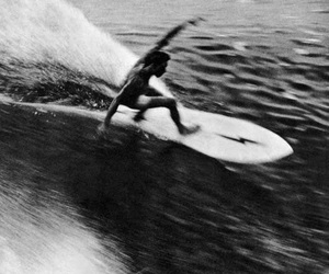 surf, black and white, and waves image