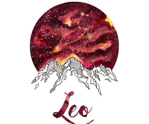 Leo and zodiac image
