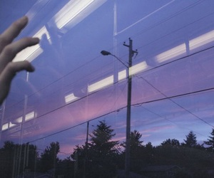 purple, sky, and grunge image