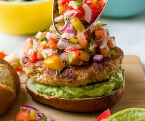 burger, food, and healthy image