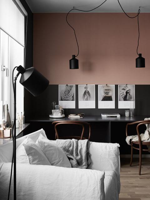 art, pink, and interior image