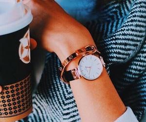 watch, coffee, and orange image