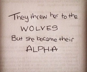 quotes, wolf, and alpha image