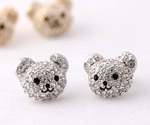 bear, earrings, and jewerly image