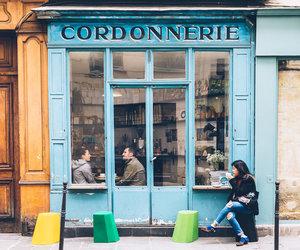 building, paris, and shop image
