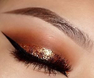 beauty, eyeliner, and fall image