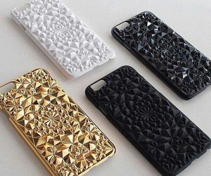 case, iphone, and gold image
