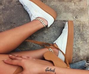 fashion, puma, and woman girl image