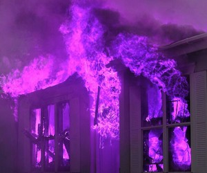 fire, purple, and aesthetic image
