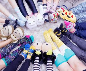 slippers, socks, and fashion image