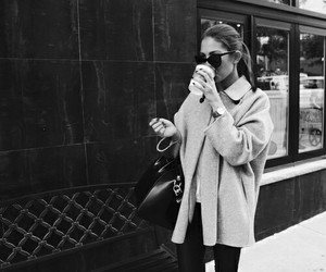 cafe, fashion, and girl image