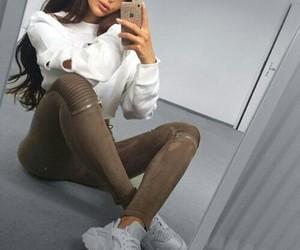 fashion, girl, and white image