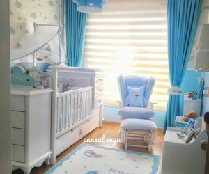 baby boy, blue, and chair image