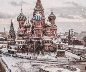 snow, winter, and moscow image