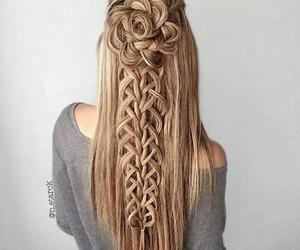 hair, rosa, and trenza image